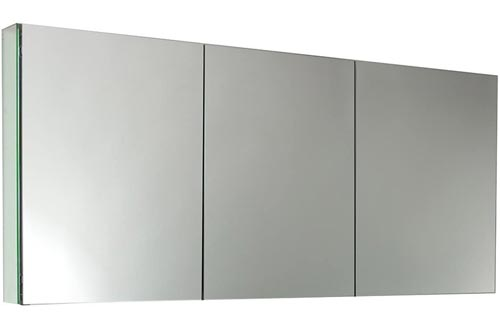 "Fresca FMC8019 60"" Wide Bathroom Medicine Cabinets with Mirrors"