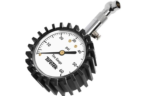TireTek Premium Car Tire Pressure Gauges 60 PSI - Heavy Duty Tire Gauges ANSI Certified Accurate