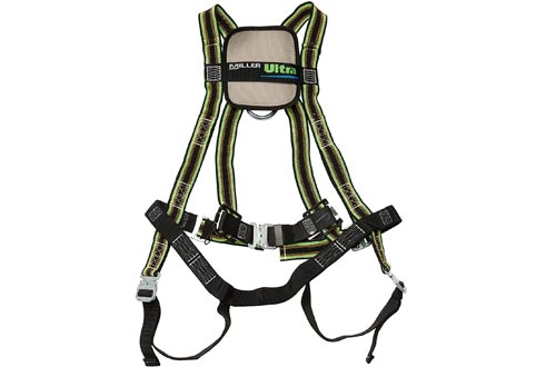 Miller by Honeywell DuraFlex Ultra Stretchable Full Body Safety Harnesses with Quick-Connect Buckles and Comfort-Touch Back D-Ring Pad, Universal Size-Large/XL, 400 lb. Capacity (E650QC/UGN)