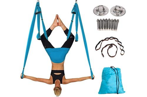 ZOROSS Aerial Yoga Swings Yoga Hammock Kit for Antigravity Exercise with Adjustable Handles Extension Straps