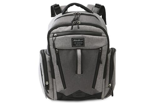 Eddie Bauer Traverse Back Pack Diaper Bags, Grey Heather