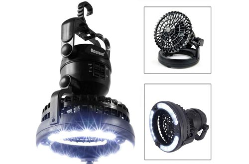 Odoland Portable LED Camping Lanterns with Ceiling Fan - Hurricane Emergency Survival Kit