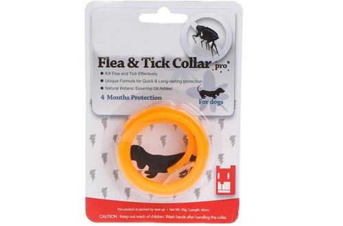 X-QUICKLY Pet Flea Collar, Pet Dog Cat Collars Protection Neck Ring Flea Tick Mite Louse Remedy Remedies Orange