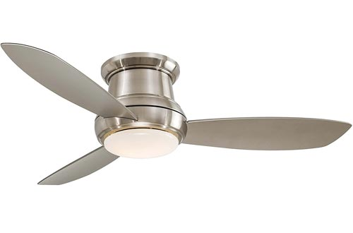 """Minka-Aire Concept II 52"""" LED Flush Mount Ceiling Fans in Brushed Nickel"""