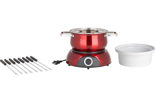 Trudeau 0829192 Electric Scarlet Fondue Pots, 84 oz, Red