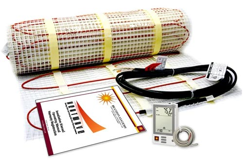 160 Sqft Electric Floor Heating System with Required GFCI Programmable Thermostat 240V