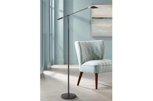 Arnie Modern Pharmacy Floor Lamps LED Black Adjustable Arm Dimmable for Living Room Reading Bedroom Office - 360 Lighting