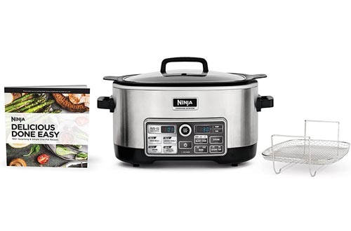 Ninja Auto-iQ Multi/Slow Cookers with 80-Pre-Programmed Auto-iQ Recipes for Searing, Slow Cooking, Baking and Steaming with 6-Quart Nonstick Pot (CS960)