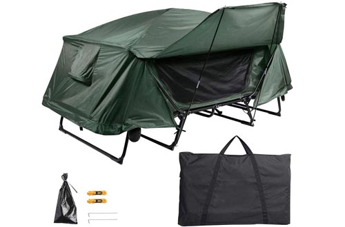 Yescom Double Tent Cots Folding Portable Waterproof Camping Hiking Bed for 2 Person with Rain Fly Bag
