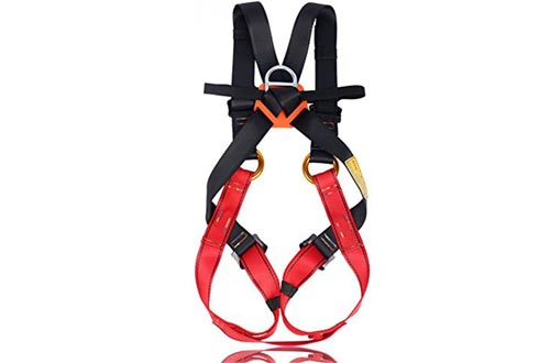 Flowersea Full Body Climbing Harnesses Kids,Flower Sea9 Climbing Harnesses Safe Belts Guide Harnesses Mountaineering Outward Band Expanding Training Caving Rock Climbing Rappelling Equip