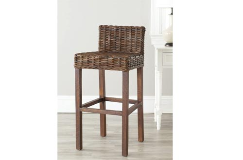 Safavieh Home Collection Cypress Cappuccino Wicker 30-inch Bar Stools