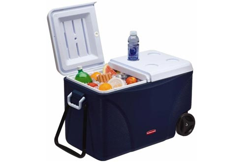 Rubbermaid DuraChill Wheeled 5-Day Coolers, 75 Quarts, Blue 1836574