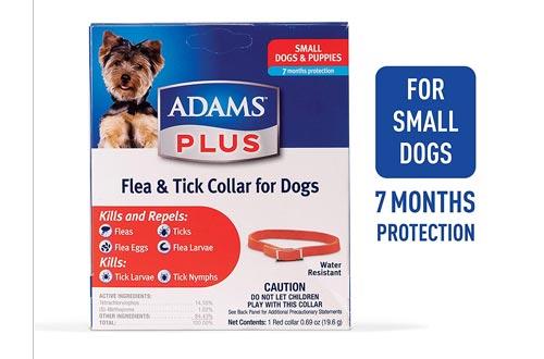 Adams Plus Flea & Tick Collars for Dogs, Small