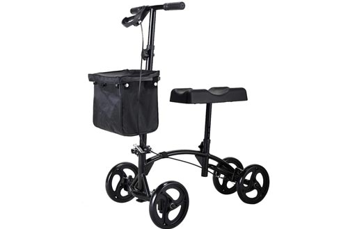 Sandinrayli Knee Scooter Walker Steerable Scooters Crutches Alternative for Disabled Knee Injured Foot