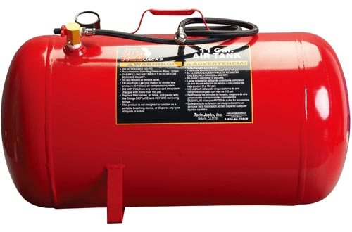 "BIG RED T88011 Torin Portable Horizontal Air Tanks with 50"" Hose, 11 Gallon Capacity"