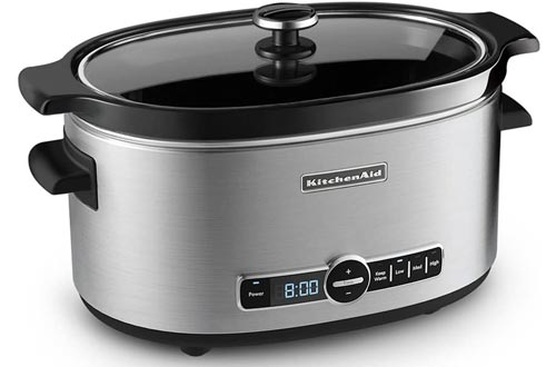 KitchenAid KSC6223SS 6-Qt. Slow Cookers with Standard Lid - Stainless Steel