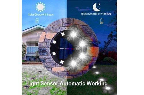 Ouyilu Portable Waterproof LED Solar Lawn Lights Ground Lights Garden Lights In-Ground Lights
