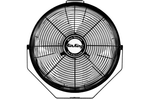 Air King 9312 Powder-Coated Steel Multi-Mount Wall Fans, Black