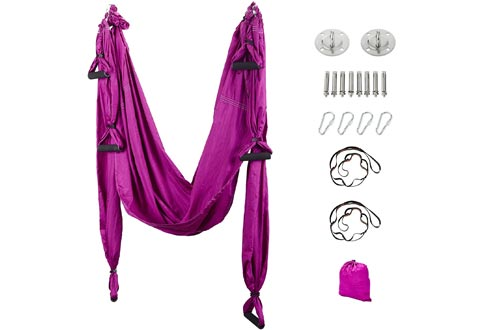 Maxwelly Aerial Yoga Flying Yoga Swings Yoga Hammock Trapeze Sling Inversion Tool for Gym Home Fitness