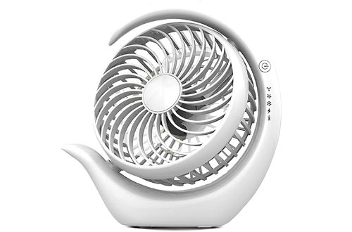 AceMining Rechargeable Battery Operated Fans with 3 speeds, Strong Wind, Long Battery Life, Quiet Operation, Small USB Desk Fans, Portable Battery Powered Fans, Cooling for Home, Office, Travel(White)