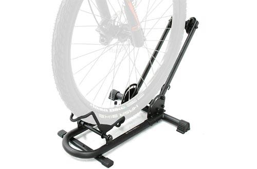 BIKEHAND Bicycle Floor Type Parking Rack Stands - for Mountain and Road Bike Indoor Outdoor Nook Garage Storage