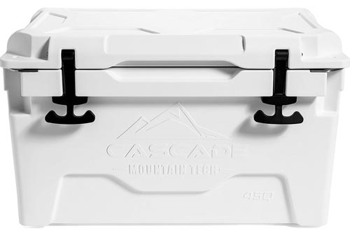 Cascade Mountain Tech Heavy-Duty 45-Quart Coolers Built-in Bottle Opener for Camping