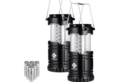 Etekcity LED Camping Lanterns Collapsible Flashlight Portable Lamp AA Battery Powered Light, a Perfect Choice for Camping, Hiking, Emergency, Storm Season, Power Outage, CL10(2 Pack)