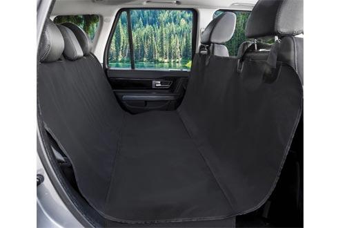 BarksBar Original Pet Seat Covers for Cars - Black, Waterproof & Hammock Convertible