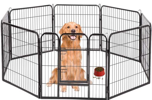 """BestPet Pet Playpen 8 Panel Indoor Outdoor Folding Metal Protable Puppy Exercise Pens Dog Fence,24"""",32"""",40"""""""