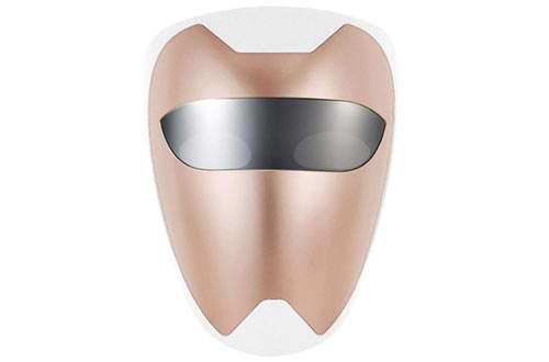 PURISKIN LED Face Masks (02 Rose Gold) - Skincare Facial Home Therapy Treatment Device for Improving Wrinkles Rejuvenation Anti-Aging Soothing Tightening Whitening