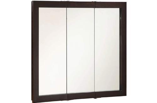 """Design House 541359 Ventura Tri-View Medicine Cabinets Mirror 36"""", Espresso, W x 30"""" H"""