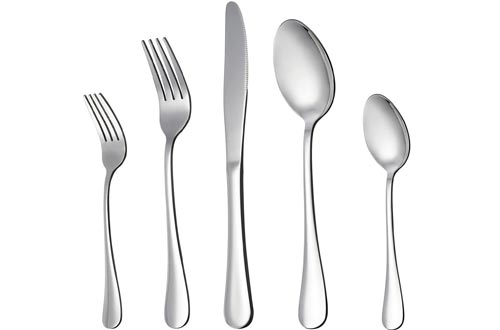 LIANYU 20-Piece Silverware Flatware Cutlery Sets, Stainless Steel Utensils Service for 4, Include Knife/Fork/Spoon, Mirror Polished , Dishwasher Safe