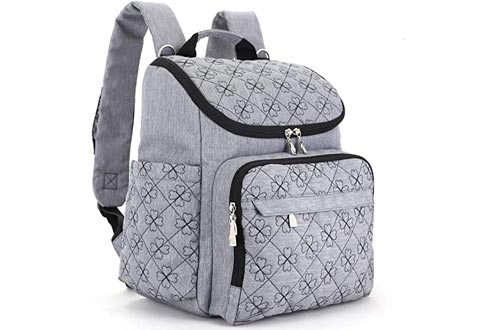 Diaper Bags Backpack With Baby Stroller Straps By HYBLOM, 12 Pockets Organizer