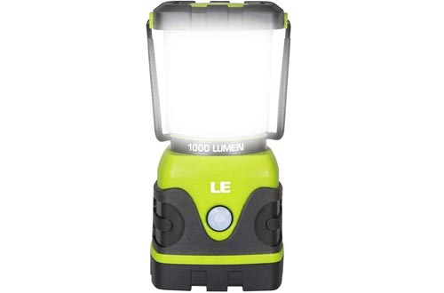 LE LED Camping Lanterns, Battery Powered LED with 1000LM, 4 Light Modes, Waterproof Tent Light, Perfect Lanterns Flashlight for Hurricane, Emergency, Survival Kits, Hiking, Fishing, Home and More