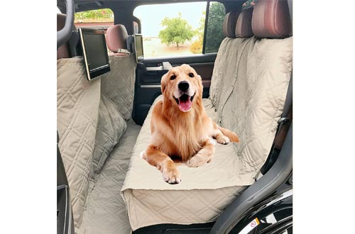 Deluxe Quilted and Padded Dog Car Seat Covers with Non-Slip Back Best for Car Truck and SUV - Make Travel with Your Pet Always an Option - 3 Sizes and Colors