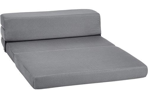 AmazonBasics Trifold Mattresses, Twin XL, Grey