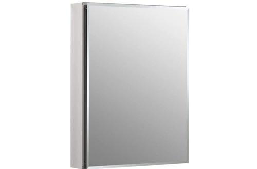 Kohler K-CB-CLC2026FS Frameless 20 Inch X 26 Inch Aluminum Bathroom Medicine Cabinets; Recess Or Surface Mount