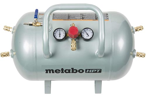 Metabo HPT Air Tanks, Five Quick Connect Couplers, 10-Gallon Capacity, ASME Certified (UA3810AB)