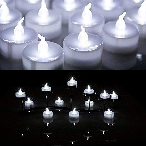 AGPtek®-24-PCS-LED-Tealights-Battery-Operated-flameless-Candles-Lights-For-Wedding-Birthday-Party-White