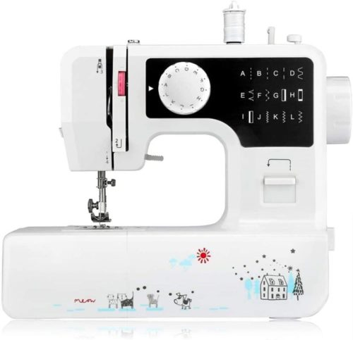 Portable Mini with 12 Different Stitches, Fabric Sewing