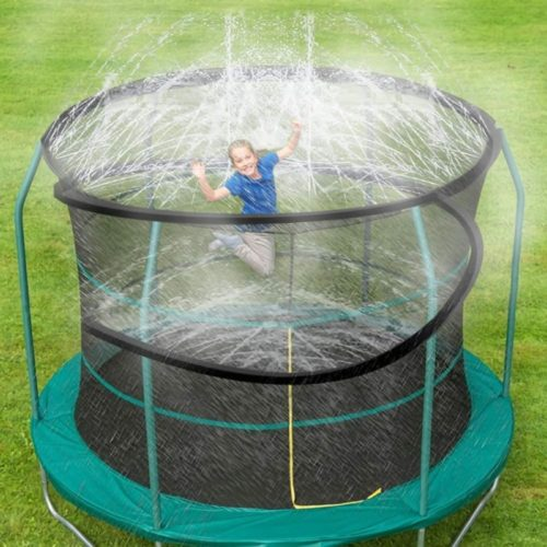 ARTBECK-Trampoline-Sprinkler-Outdoor-Trampoline-Water-Play-Sprinklers-for-Kids-Fun-Water-Park-Summer-Toys-Trampoline-Accessories-39-ft-Black
