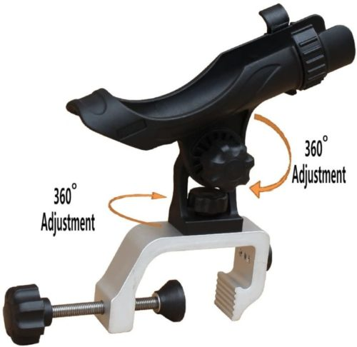AGOOL Fishing Boat Rods Holder Lock Rod Holder Adjustable Fishing Rod Racks Folding Holder
