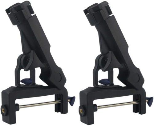 Sunnyglade 2PCS RH30 Adjustable Fishing Boat Rod Holder/Fish Pole Racks Folding Holder/Adjustable Removable Fish Rod Racks