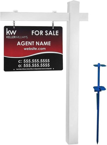DAR Products White Vinyl PVC Real Estate Sign Post