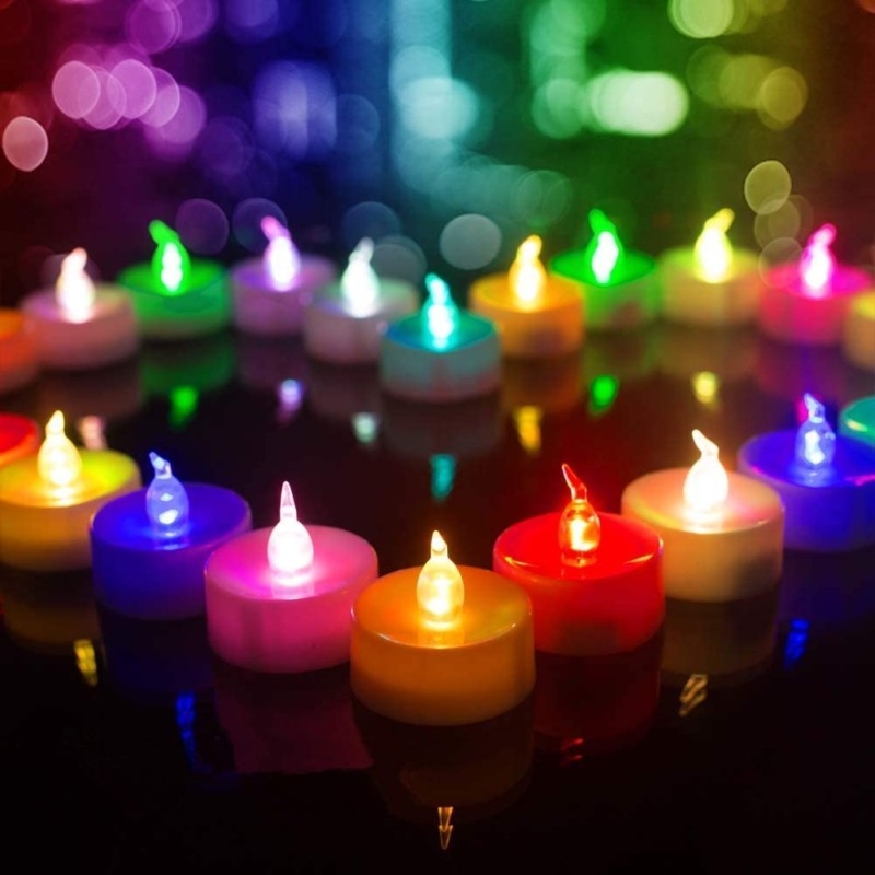 Beichi-Color-Changing-LED-Tea-Lights-Bulk-Set-of-24-Flameless-Tealight-Candles-with-Colorful-Lights-Battery-Operated-Colored-Fake-Candles-No-Flickering-Light-White-Base