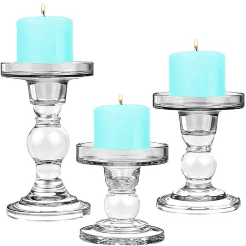 CYS-EXCEL-Glass-Candle-Holders-for-3-Pillar-Candle-and-3-4-Taper-Candle-Wedding-decoration-Candlestick-Set-of-3-H-3.5-4.5-and-5.5-with-3.25-Diameter