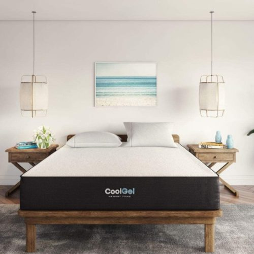 Classic Brands Cool Gel Ventilated Gel Memory Foam 10-Inch Mattress, King