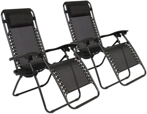 EMMETTS Black Zero Gravity Chair Outdoor
