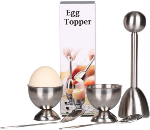 Egg-Cutter-Topper-Set-Egg-Cracker-for-Hard-Soft-Boiled-Eggs-Include-2-Egg-Cups-2-Spoons-1-Topper-Cutter-Shell-Remover-Stainless-Steel-Kitchen-Tool