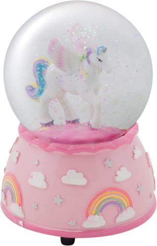 Elanze-Designs-Unicorn-Rainbows-on-Pink-Musical-80MM-Water-Globe-Plays-Tune-The-Unicorn